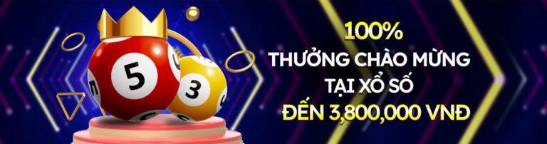Nhận ngay 100% tiền thưởng khi nạp tiền lần đầu tiên khi chơi Xổ Số với giá trị lên đến 3.800.000 VNĐ khi bạn đăng ký với Solarbet!